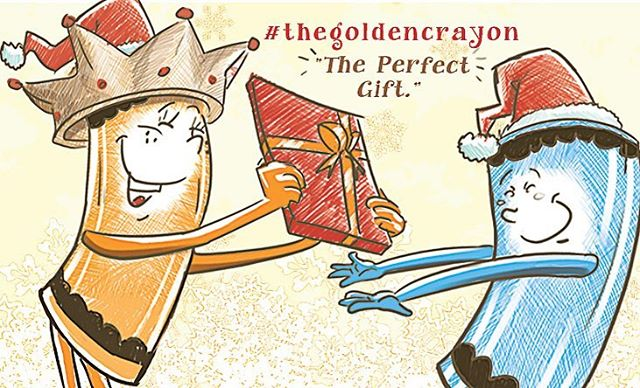I know of a good gift for that special little person in your life. The Golden Crayon! Go get it now! Btw, the illustrations are great ;) longtalepublishing.com #thegoldencrayon #childrensbook #crayon #illustration #author #zambia