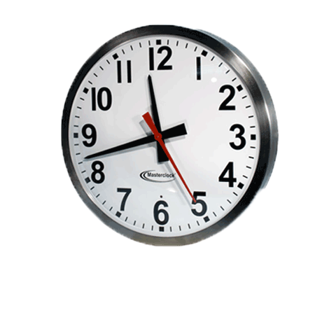 CLKTCD15-SS Time Code Analog Clock