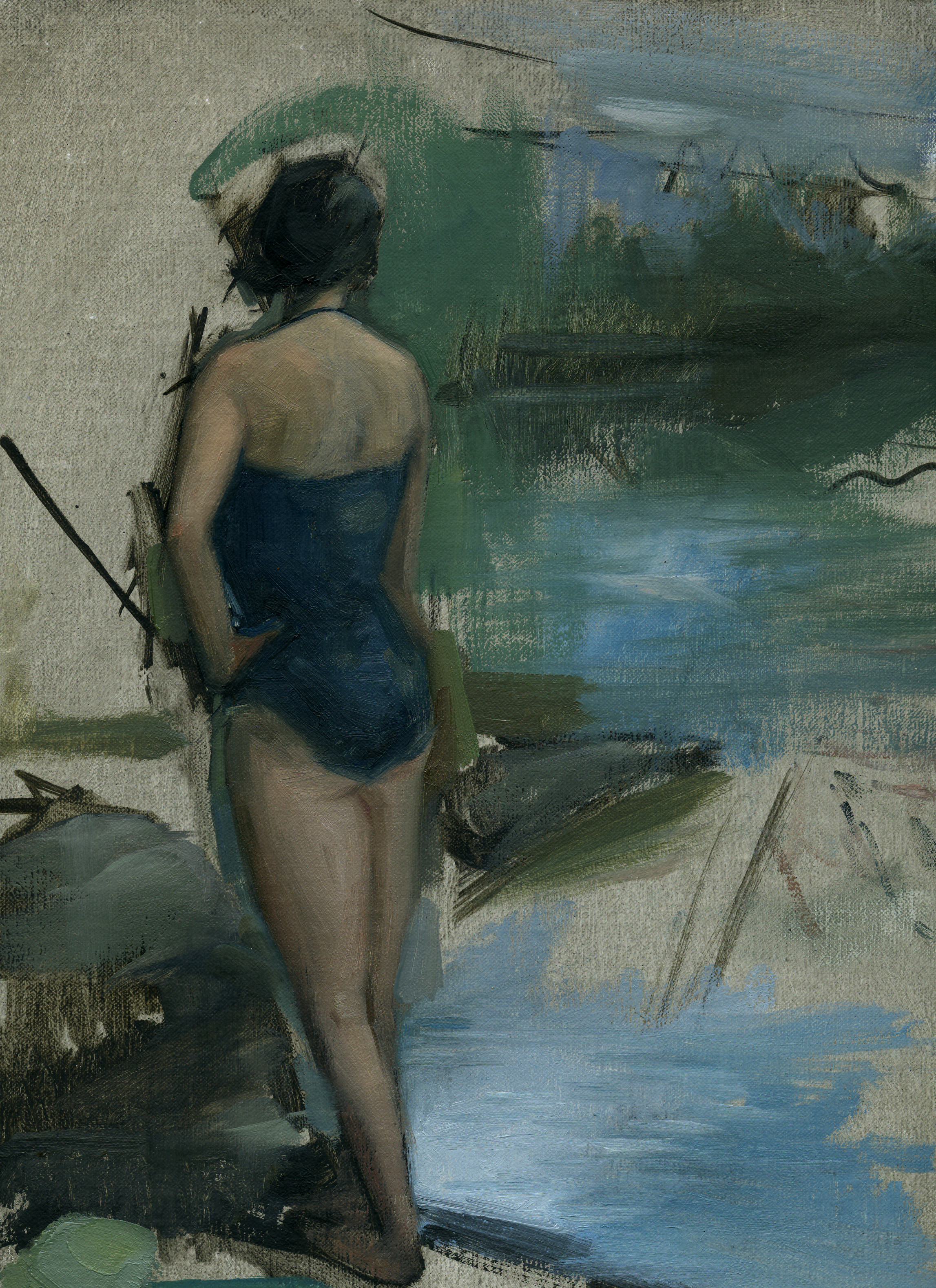 Girl on Lake