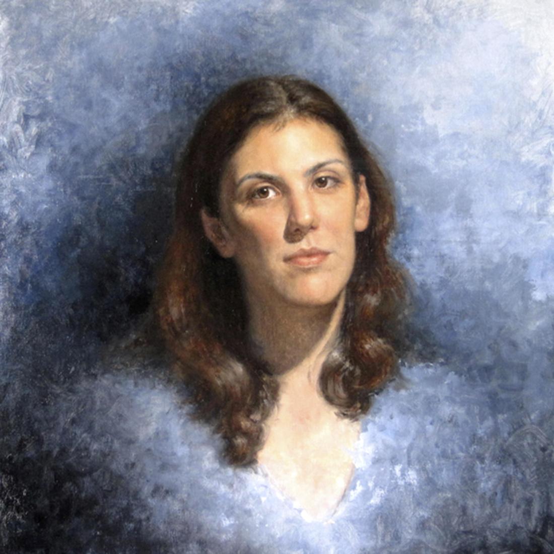 """""""Rebecca."""" Oil on linen. 20 x 20 inches. 2010."""