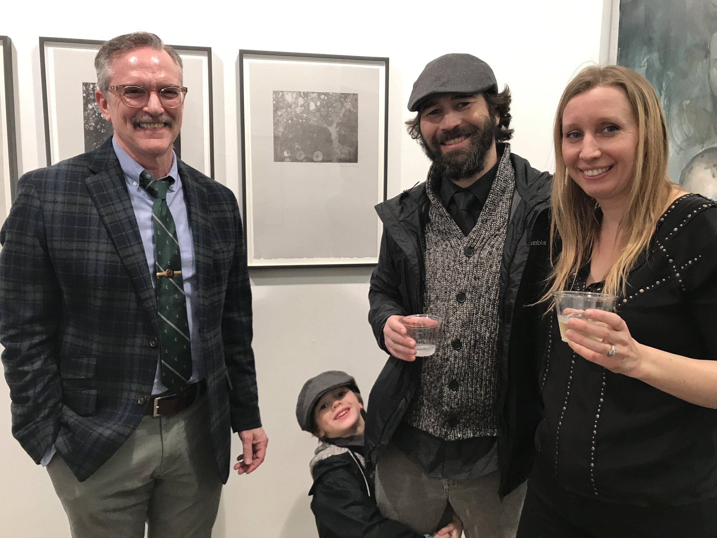Director Michael Gormley, Greg Mortenson and Junior, and Kristin Kunc