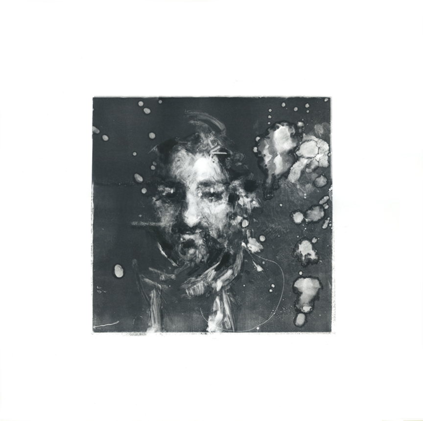 """Rubino,"" monoprint, 18 x 20 inches, 2018."