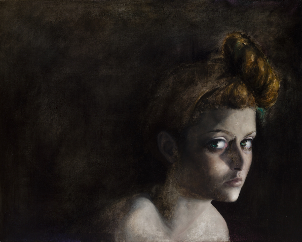 """Sarah,"" oil on linen, 30 x 40 inches, 2013."