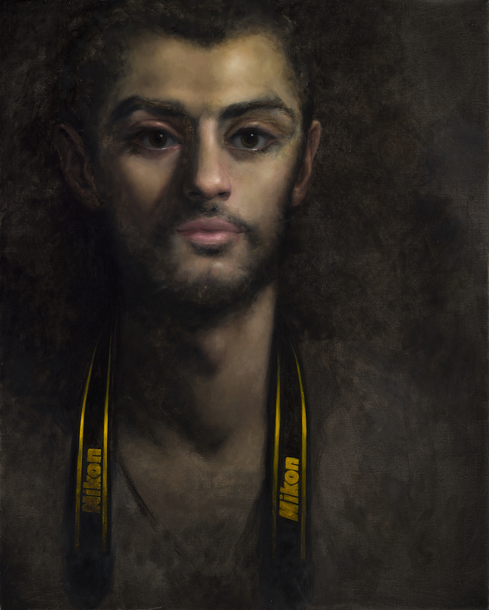 """Tarek,"" oil on linen, 30 x 24 inches, 2013."