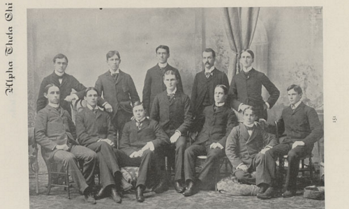 The Alpha Thets of 1898.  Photo from The Sombrero, which was the name of the University of Nebraska Yearbook at this time.