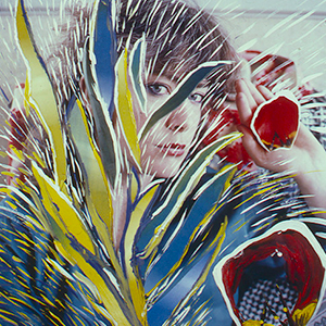 Painted Color on Color Self Portrait Series __