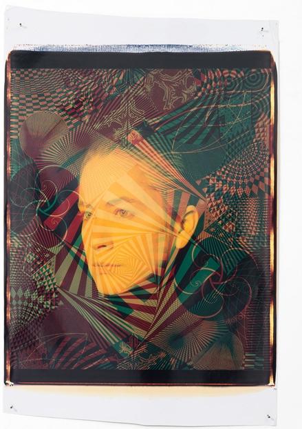 Ellen Carey,  Polaroid 20 x 24 Self-Portrait Series  1987  ––