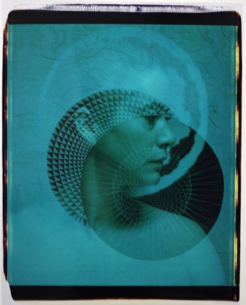 Ellen Carey: Polaroid 20 X 22 Self-Portrait  Installation view,Center Pompidou, Paris   2016  ––