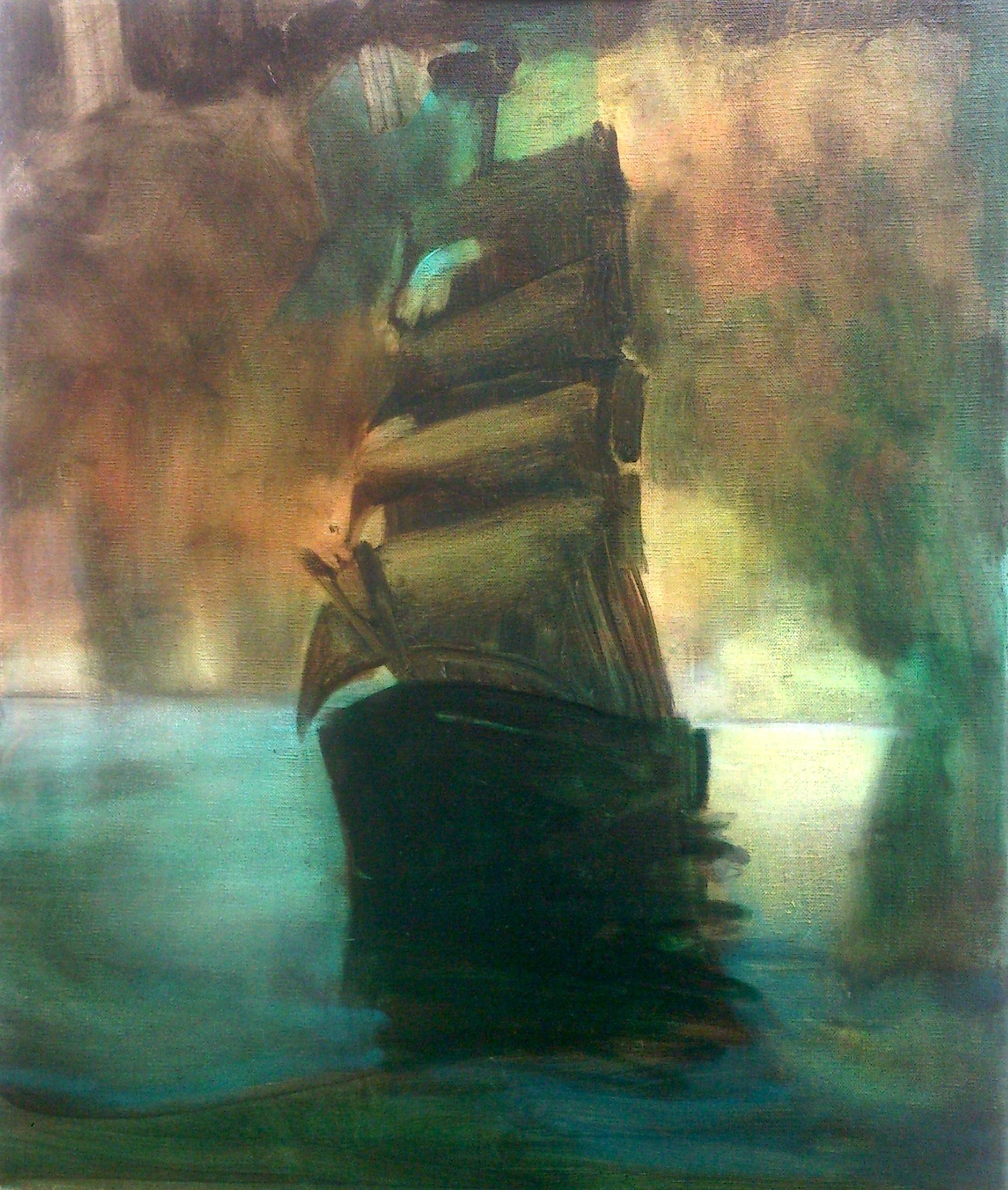 Simulated barque oil on canvas 50x60cm 2015.JPG