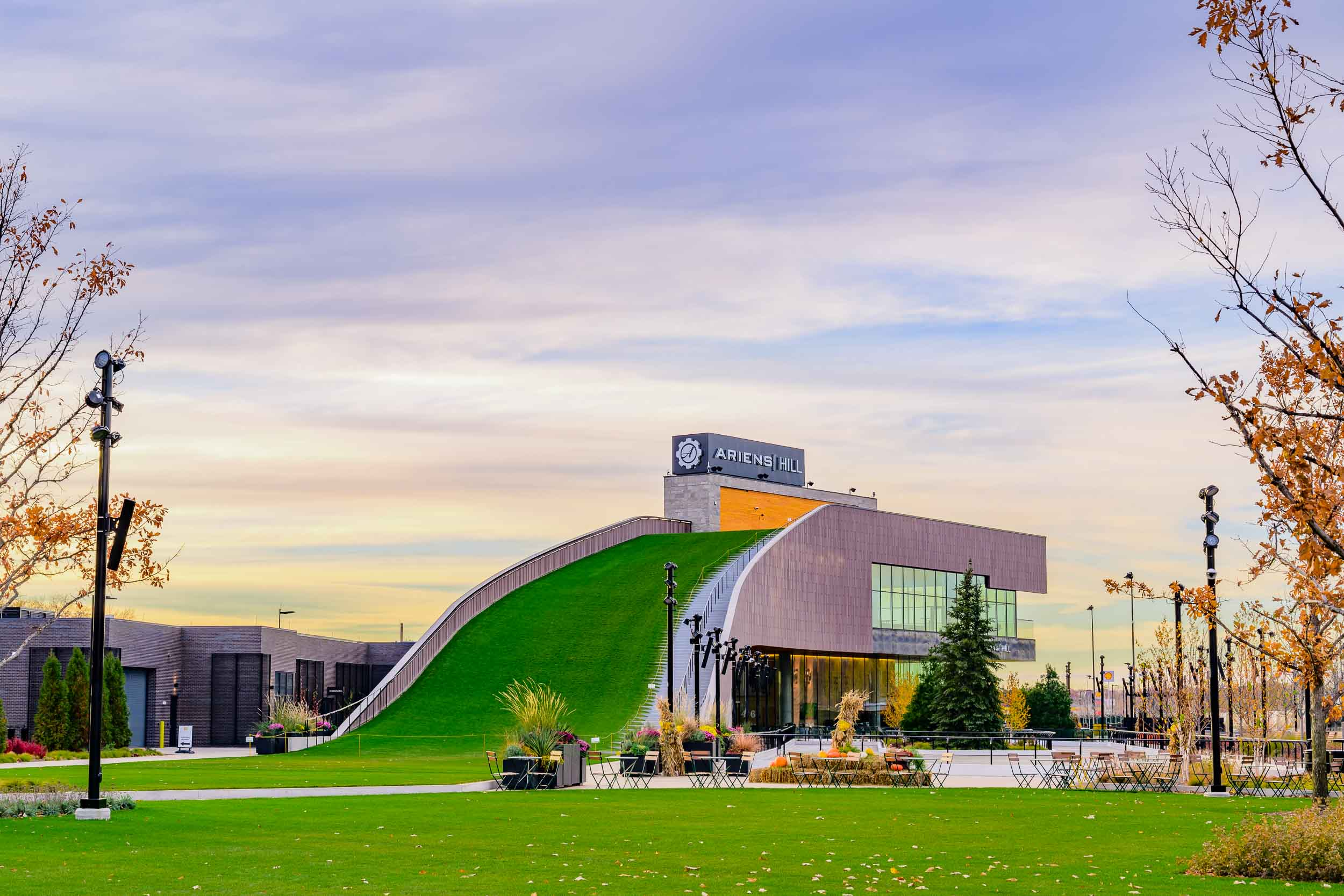 Arien's Hill  in the  Titletown District  in Green Bay