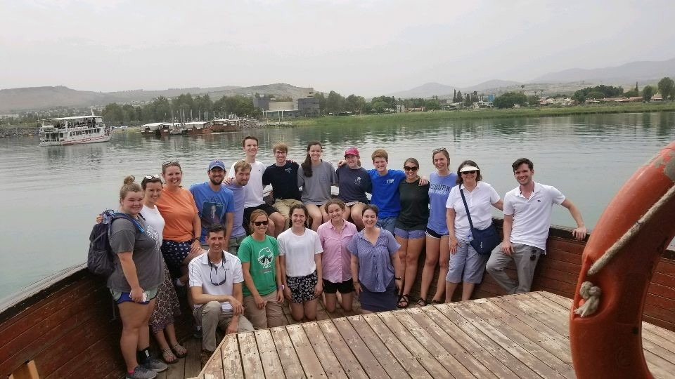 On the Sea of Galilee!