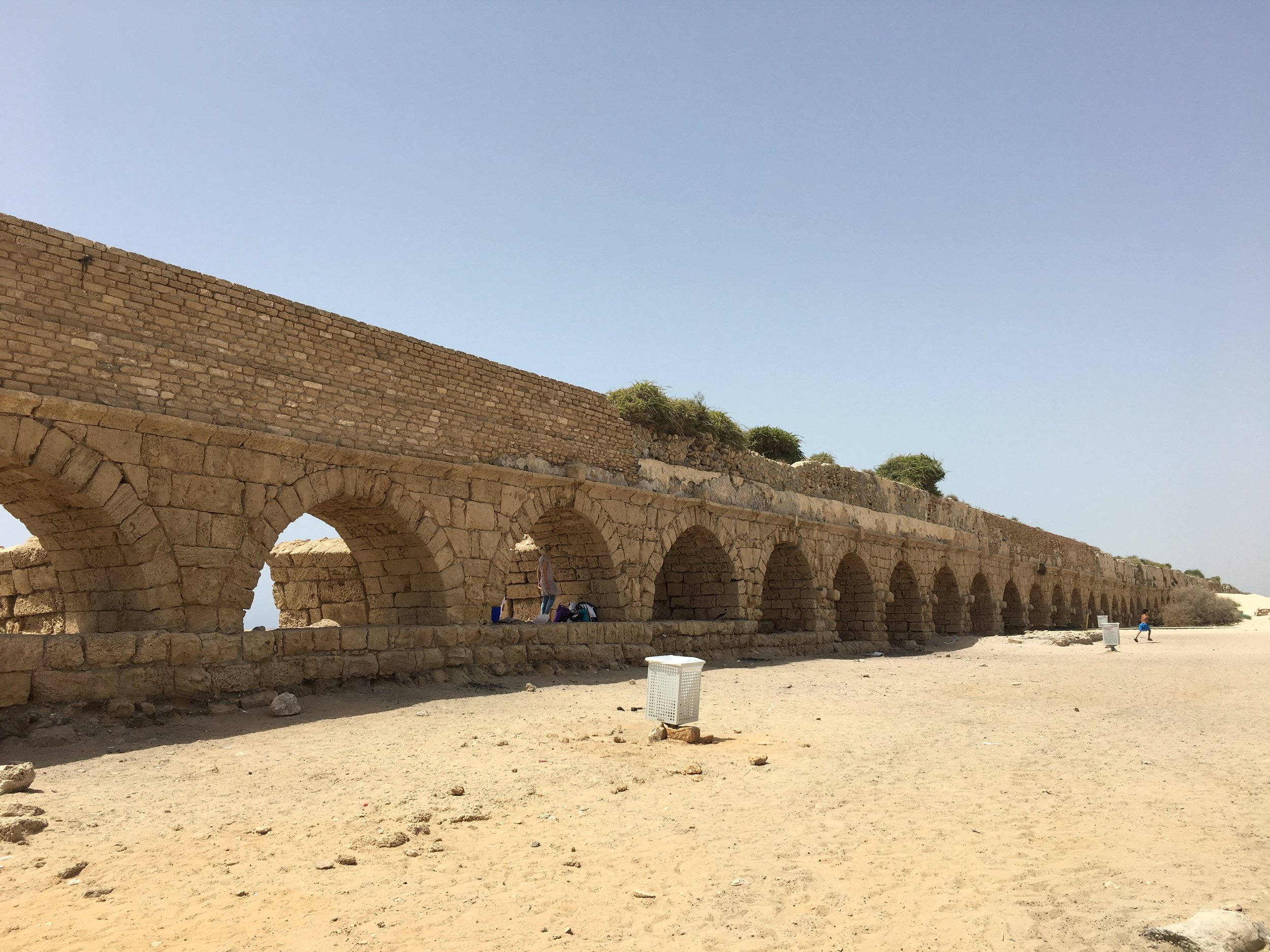 Miles of aqueduct remains on the coast