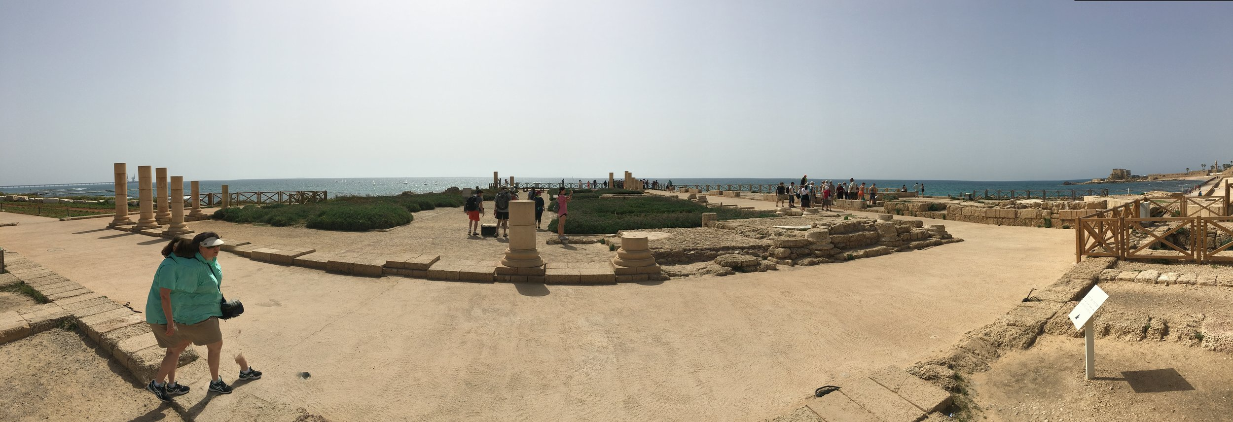 Here's what's left of Herod's palace on the sea in Caesarea... beautiful view!