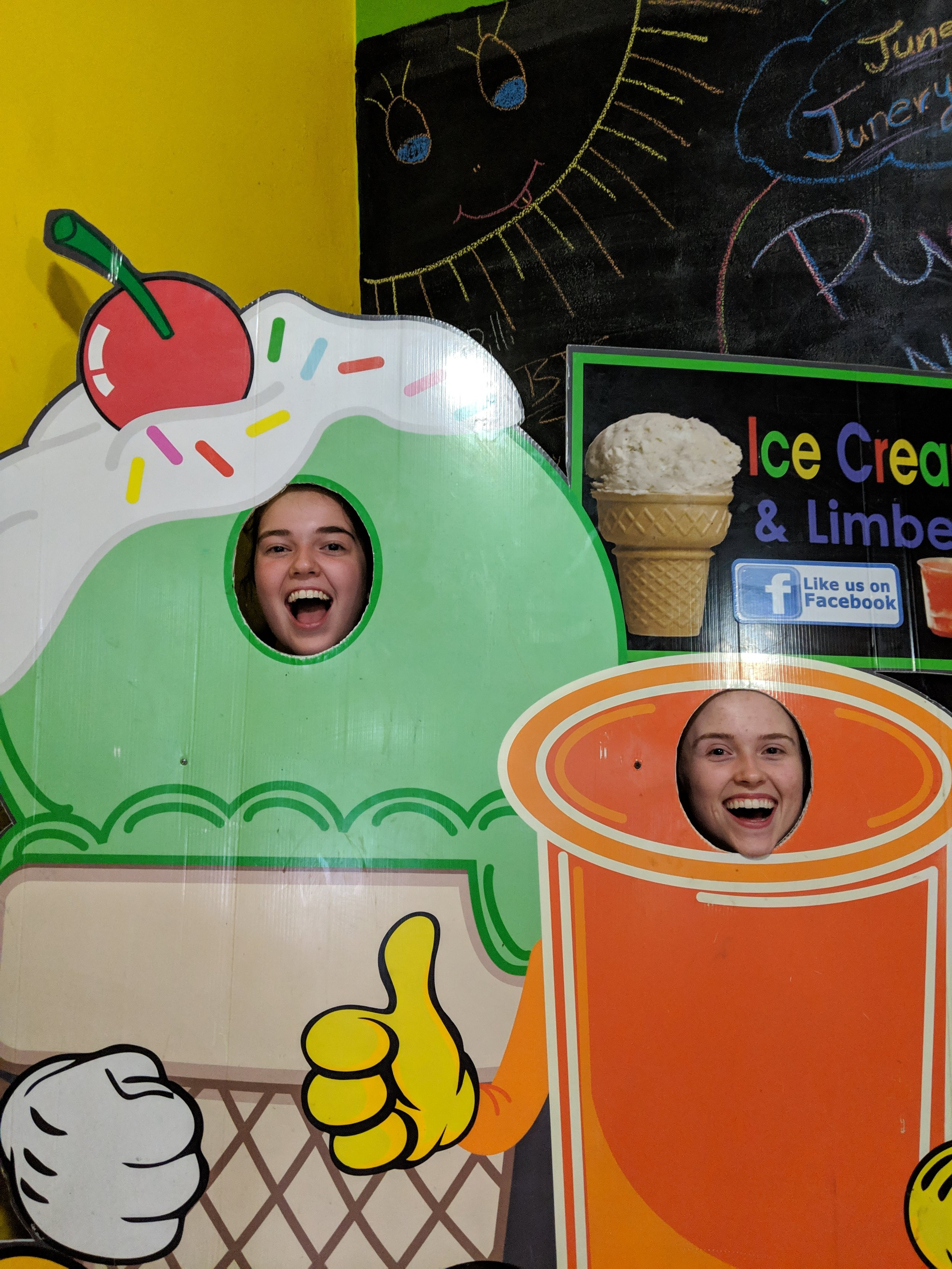 Sarah Jane Thompson and Bekah Wommack loved the ice cream so much they turned into ice cream!