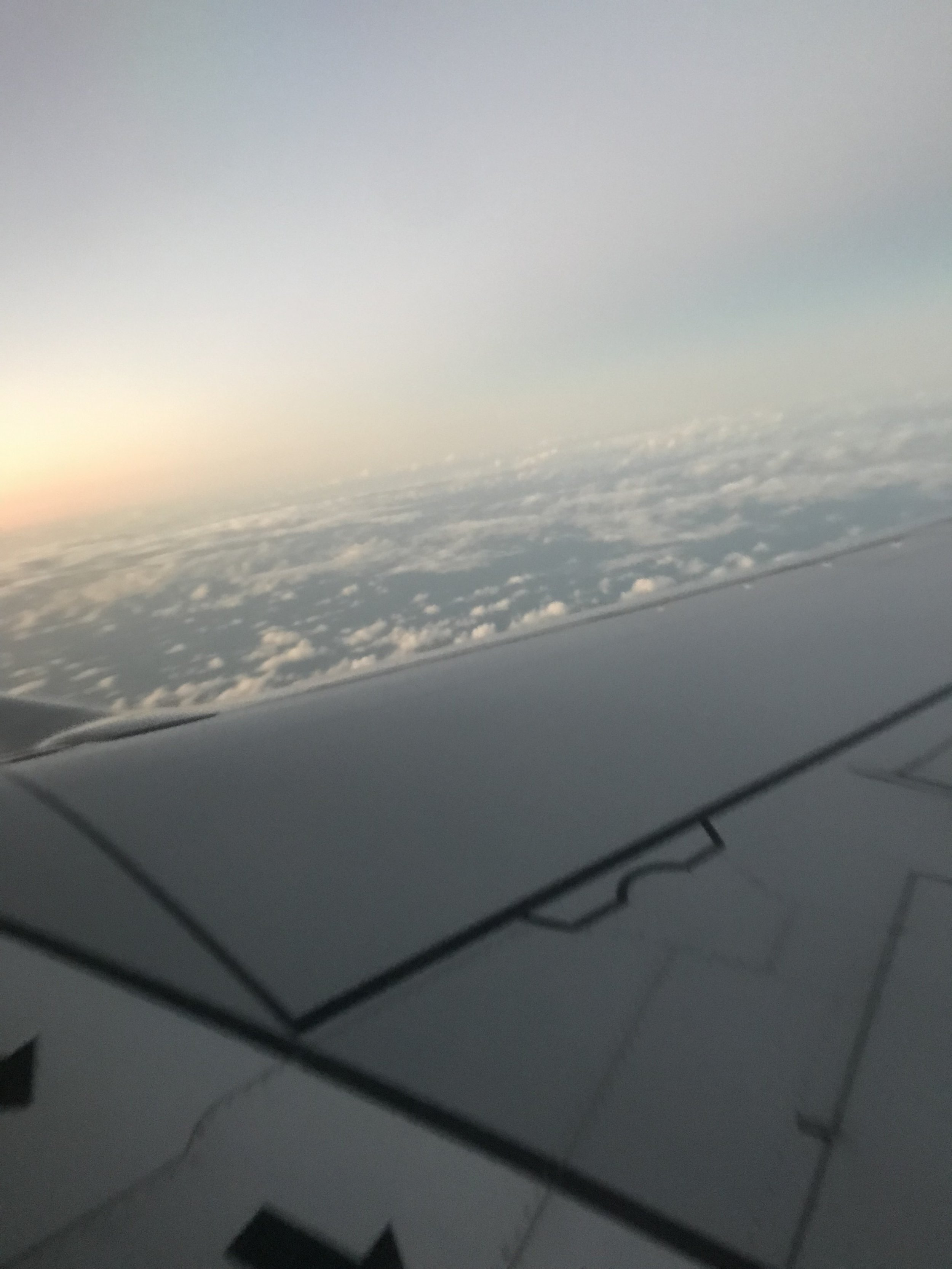 This is the view from our plane ride on the way back to Orlando (where our layover is) from Puerto Rico!