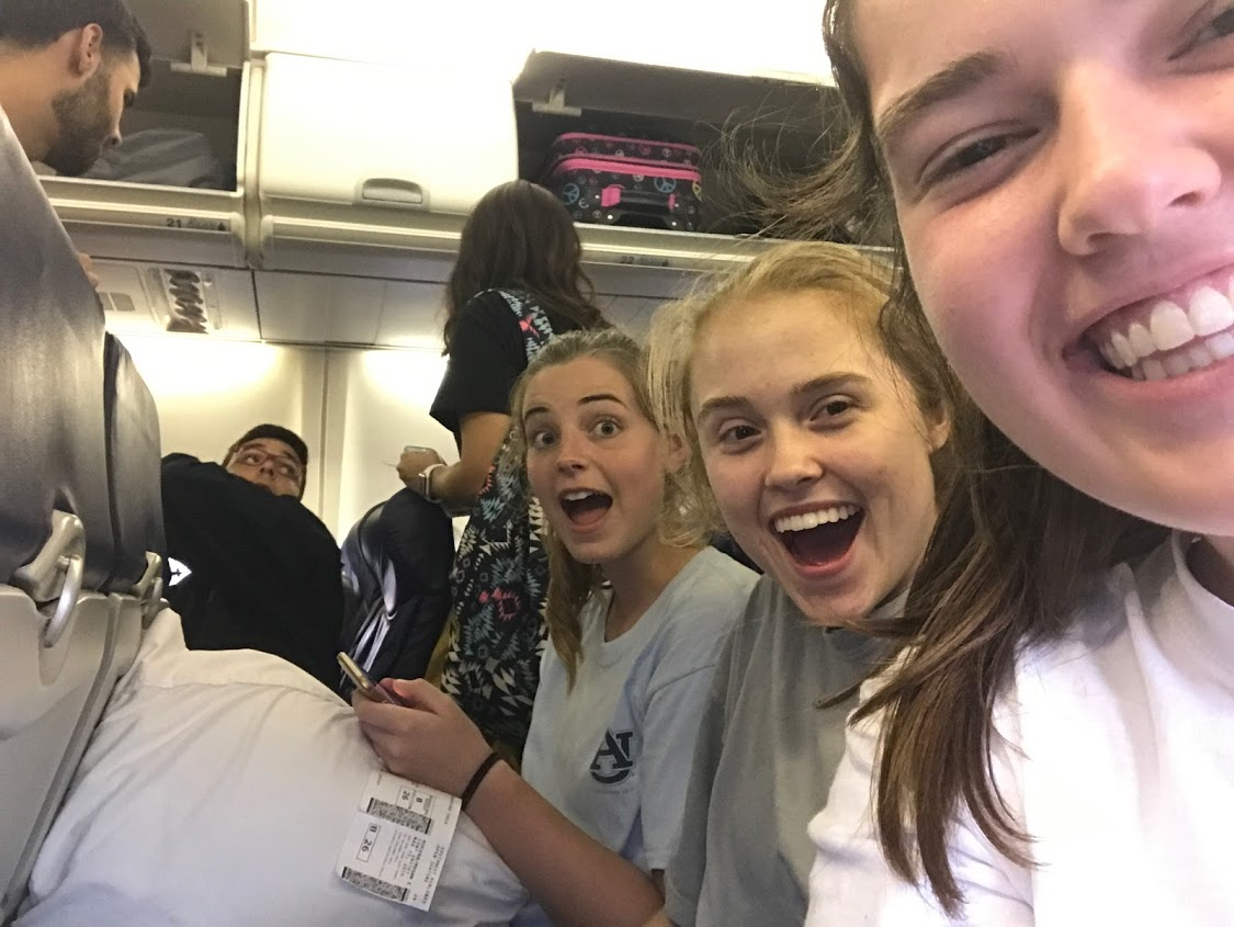 Megan Kucera, Bekah Wommack, and Sarah Jane Thompson are very excited to fly back to Orlando