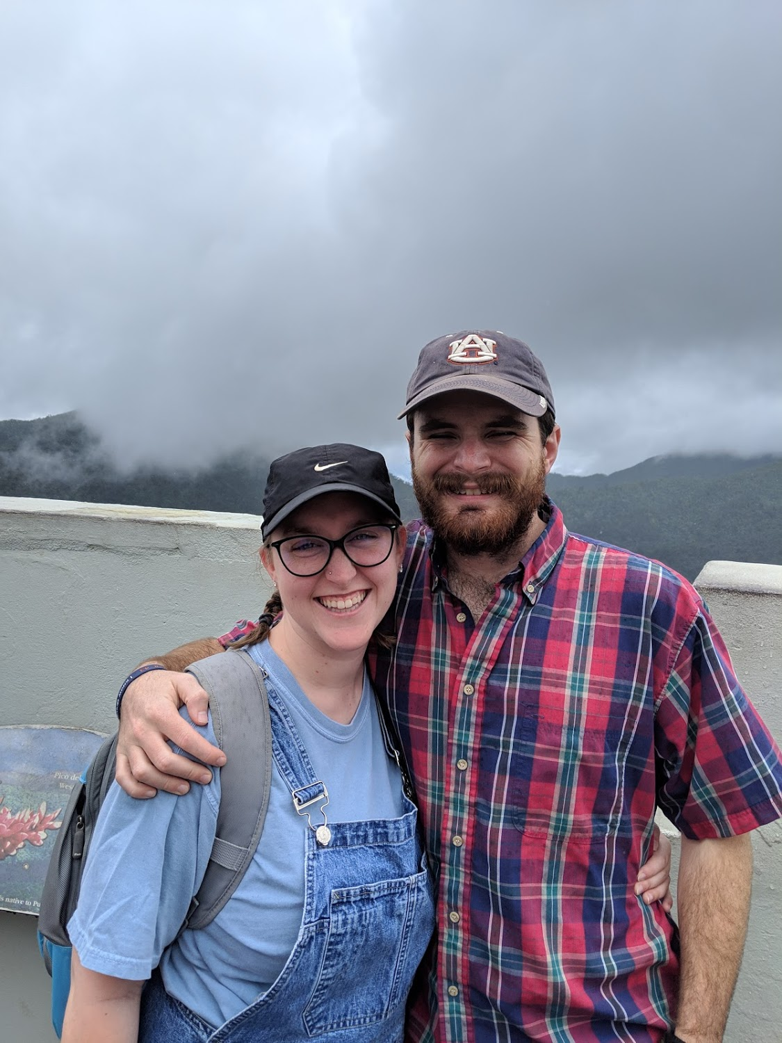 Becca and JT Mercer smile in the Yucatán Rainforest
