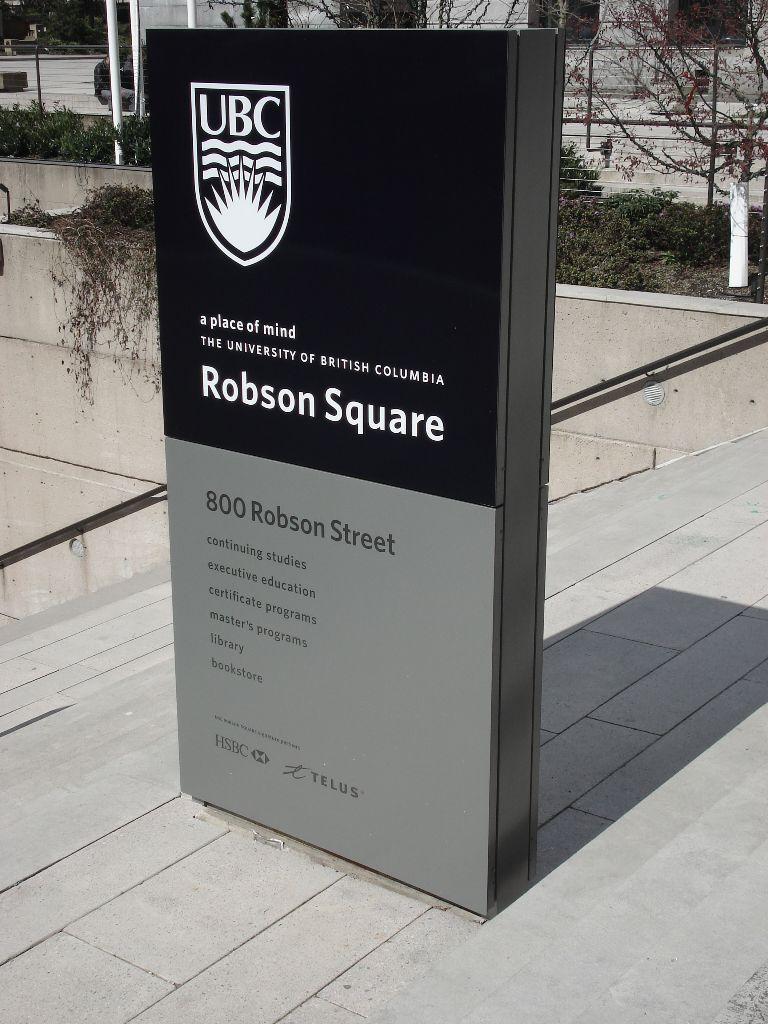 UBC Robson Square Wayfinding