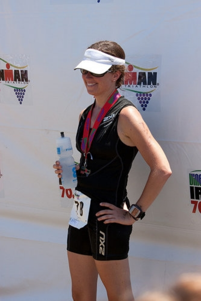 Vineman 70.3 in 2009, two months before I found out I'd be a mom for the first time.