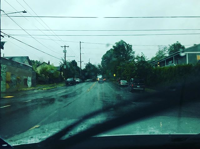 Day 31 of the #rwrunstreak found me running unknowingly into a thunderstorm. I took this photo from the ride share car I grabbed after cutting my run short. Lightning bonus: I really picked up my pace once I realized how much lightning there was!  #rwrunstreak #rwrunstreak2019 #portlandrunner #nwrunner #runnersofinstagram #instarunners #runstagram #trailrunning #runnersworld #brooksrunning #runlikeamother #veganrunner #runstreak #whateverittakes