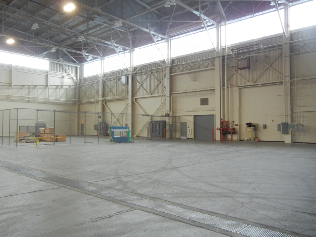 Hangar Bay Wall after Renovation
