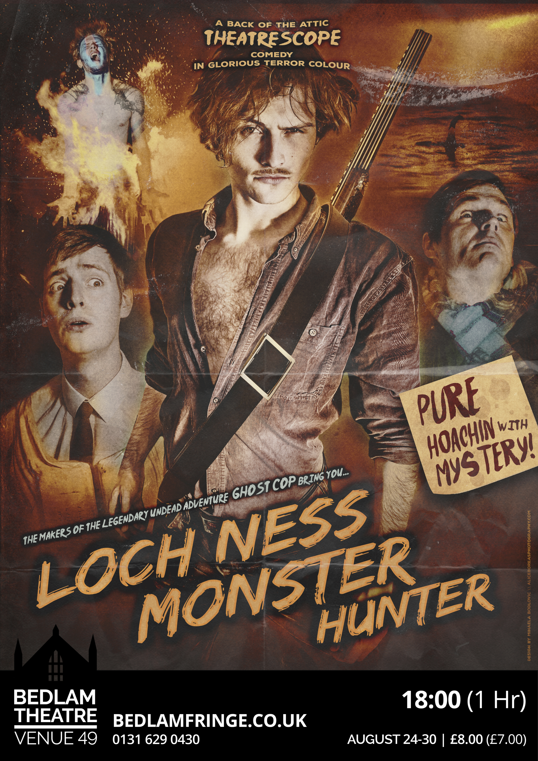 Loch Ness Monster Hunter Poster. Design by Mihaela Bodlovic: http://www.aliceboreasphotography.com/