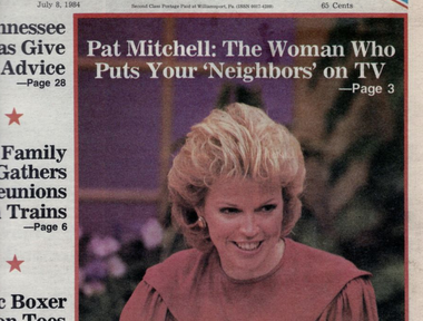 """As host of """"Woman to Woman"""" in the 1980s"""