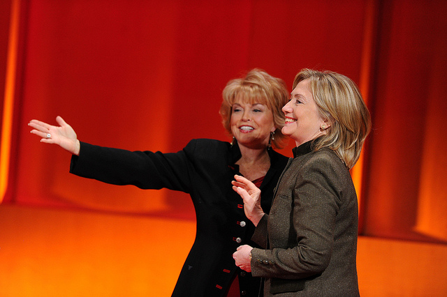With Hillary Clinton, 2010