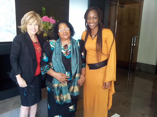 With  Joyce Banda  and  Hafsat Abiola-Costella