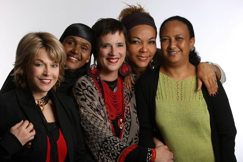 With fellow V-Day activists and  V-Day  founder, Eve Ensler