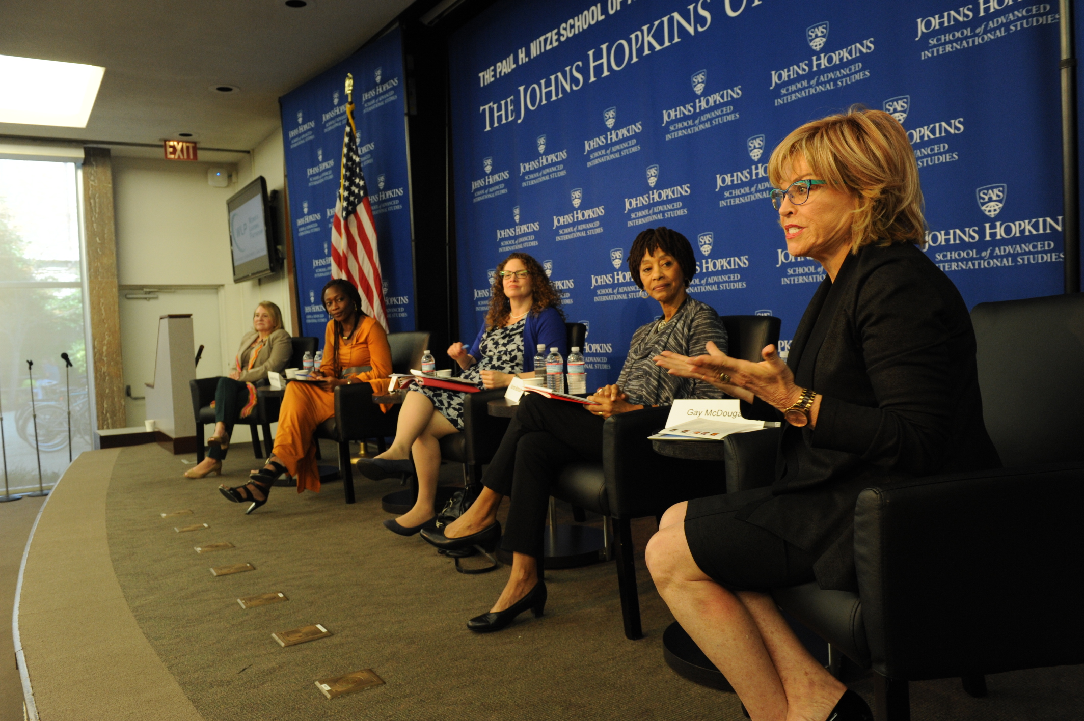 On stage at the  Women's Learning Partnership  global summit