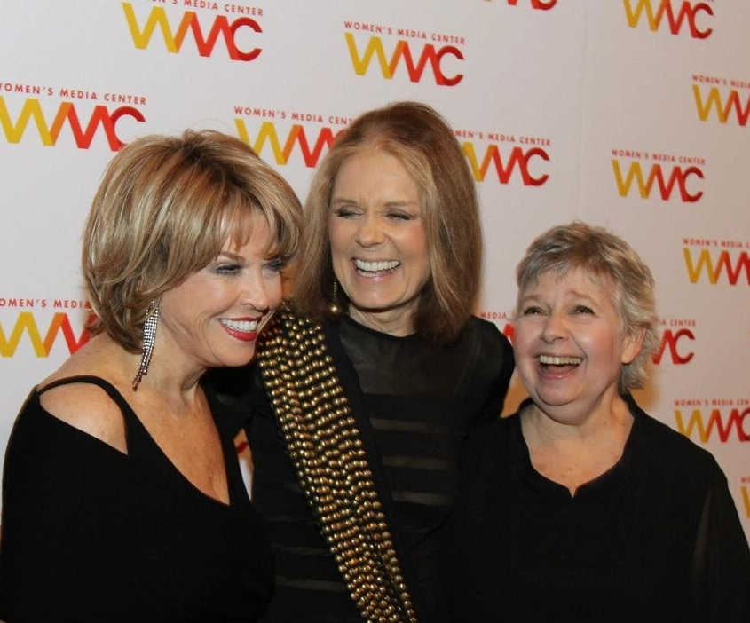 With Women's Media Center co-founders Gloria Steinem and Robin Morgan