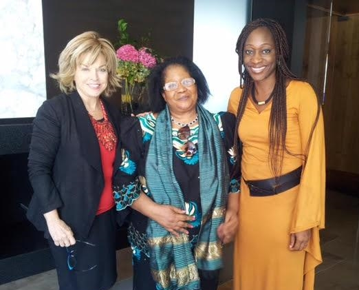 With Dr. Joyce Banda and Hafsat Abiola-Costella