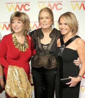 With Gloria Steinem and Katie Couric at last year's awards