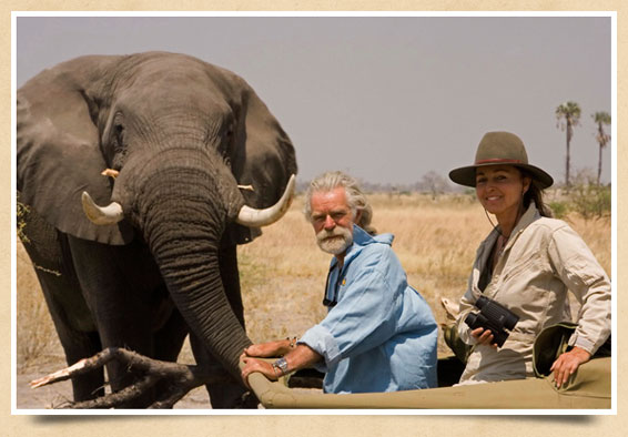 Conservationists and filmmakers Beverley and Dereck Joubert (photo courtesy of  Wildlife Films )