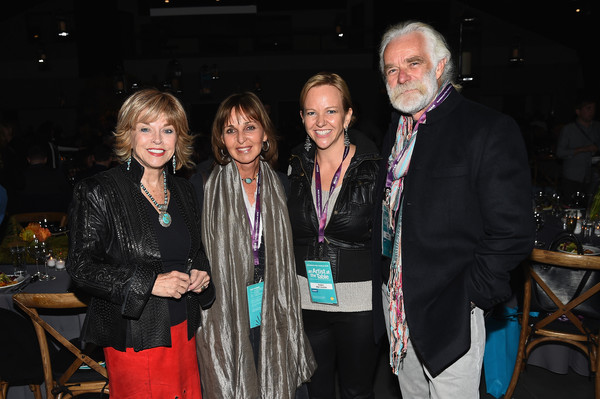 With conservationists and filmmakers Beverly and Dereck Joubert and Robin Marrouche, Executive Director of the Kimball Arts Center, which is currently exhibiting Beverly's photography