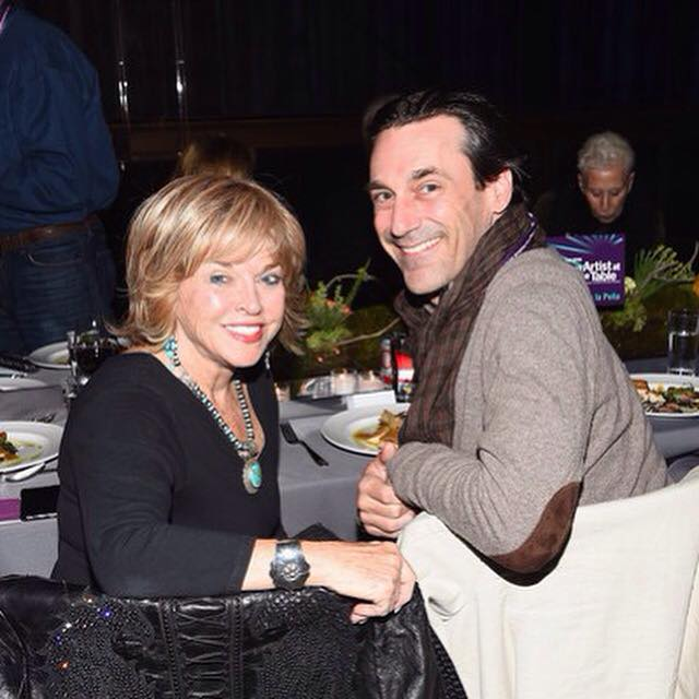 At the Artists at the Table dinner with Jon Hamm