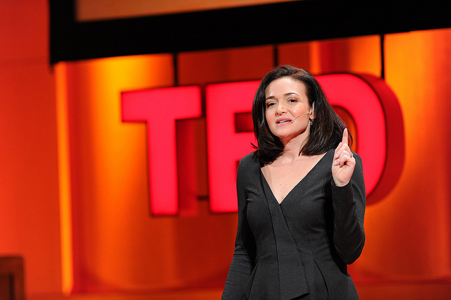 Sheryl Sandberg speaking at the first TEDWomen in 2010