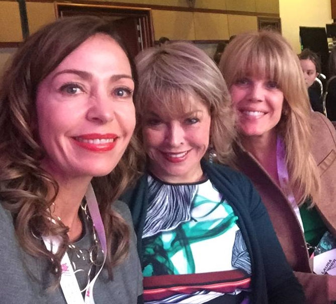 Catalina Escobar, me and Laura Turner Seydel at Women Working for the World 2016 last week in Bogota