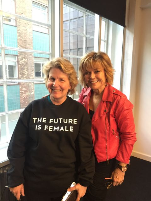 With Sandi Toksvig at the MAKERS UK launch