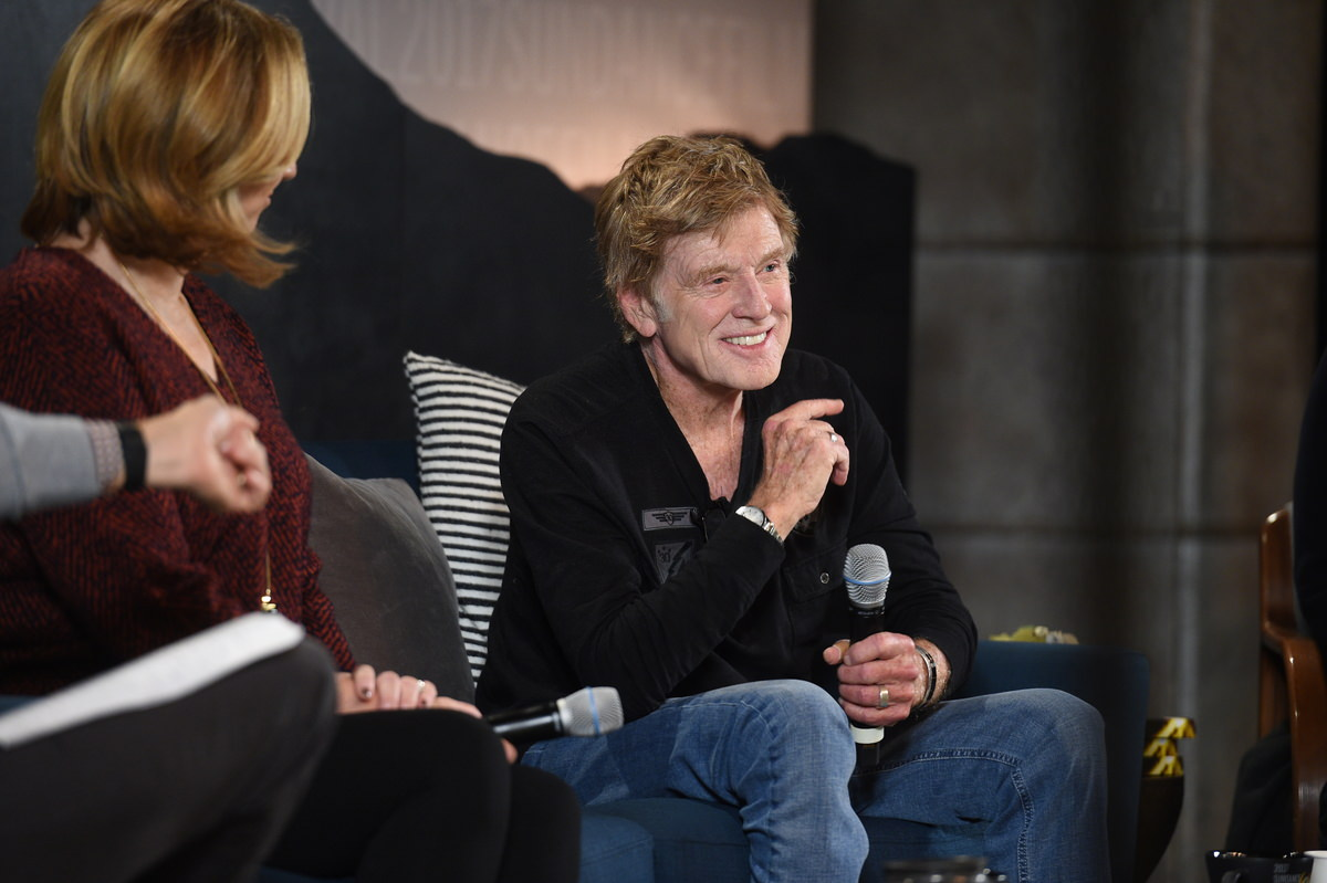 President and Founder Robert Redford at the Sundance Film Festival Day One Press Conference. Photographer: Stephen Speckman