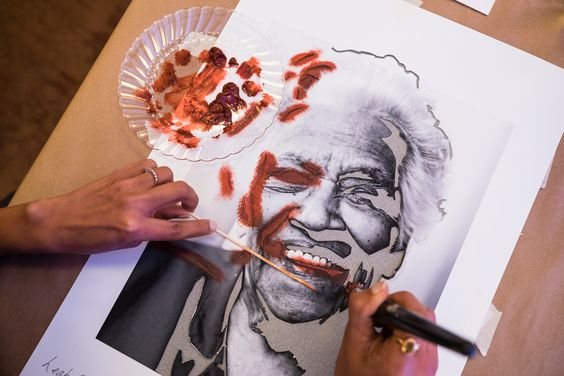 working on a picture of leah chase.jpg