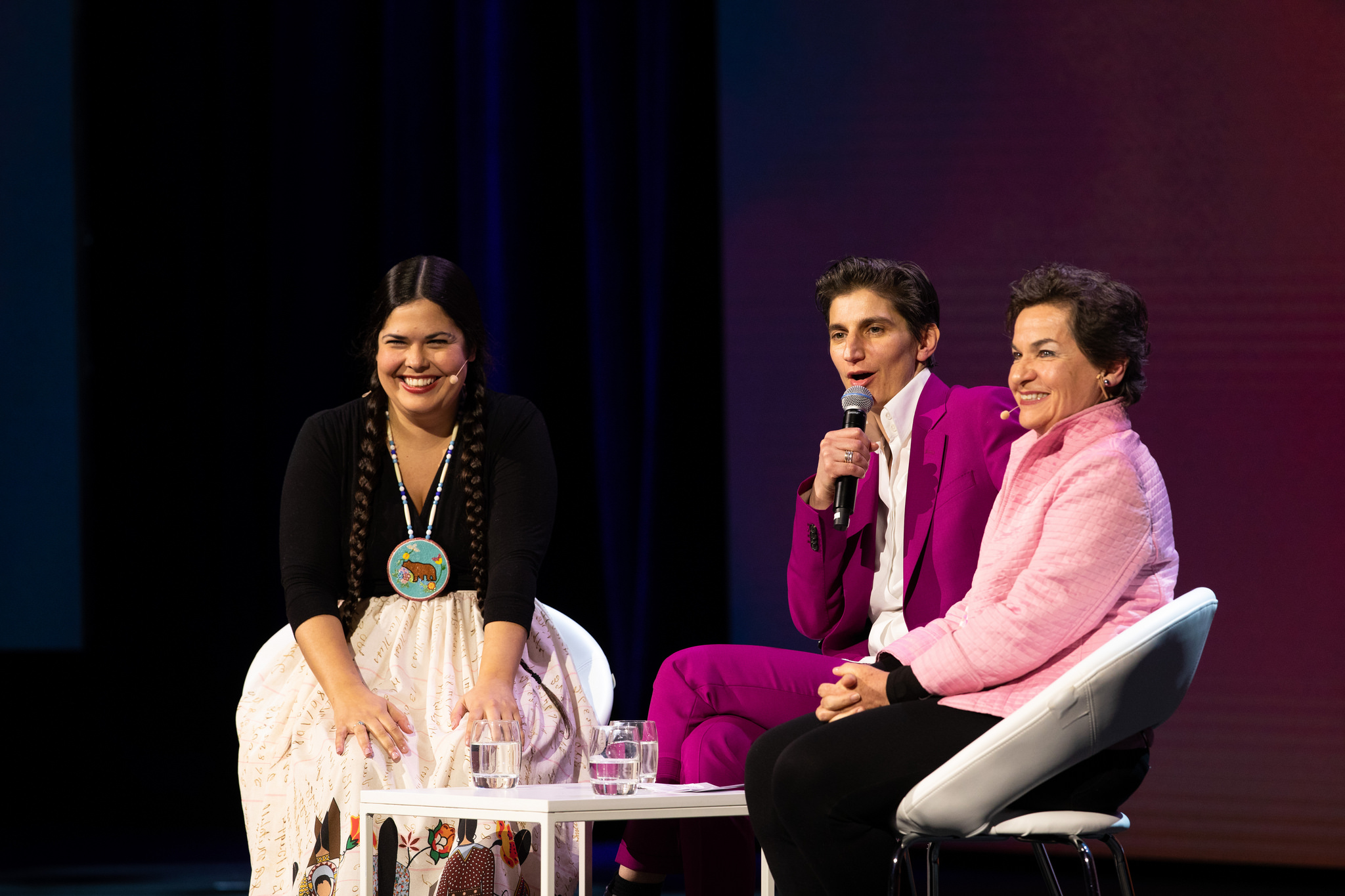 Tara Houska, Jess Search and Christiana Figueres, Opening Plenary — Skoll World Forum 2018