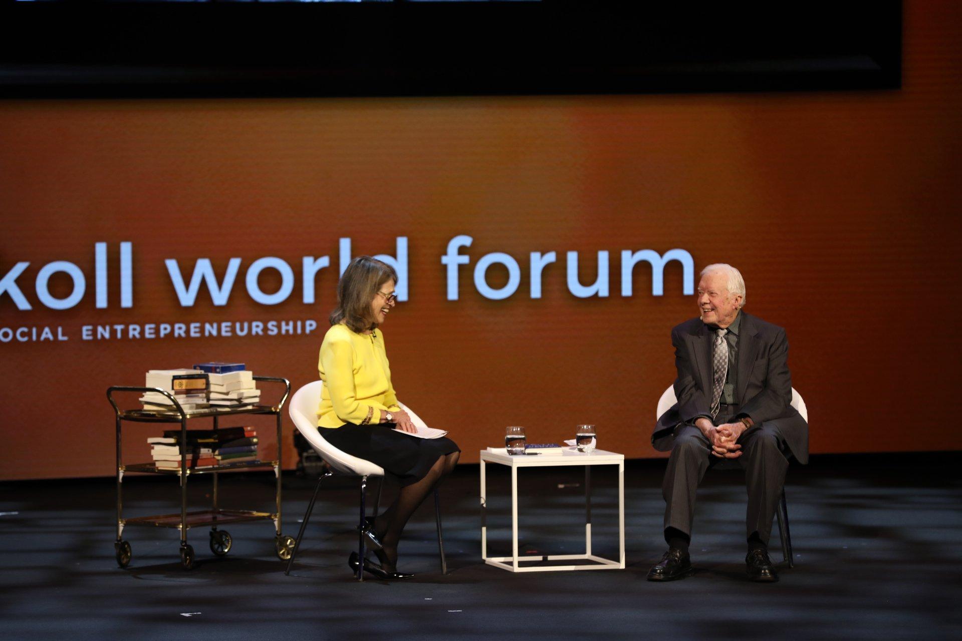 Sally Osberg and President Jimmy Carter in conversation - Skoll World Forum 2018