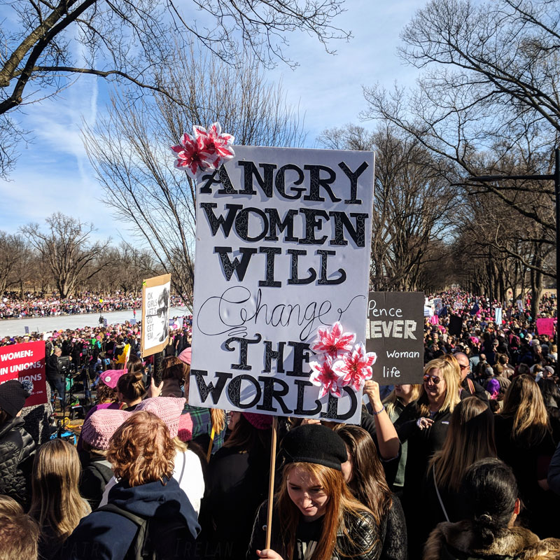 The Women's March in DC, January 20, 2018. (Photo by   pcirelan   )