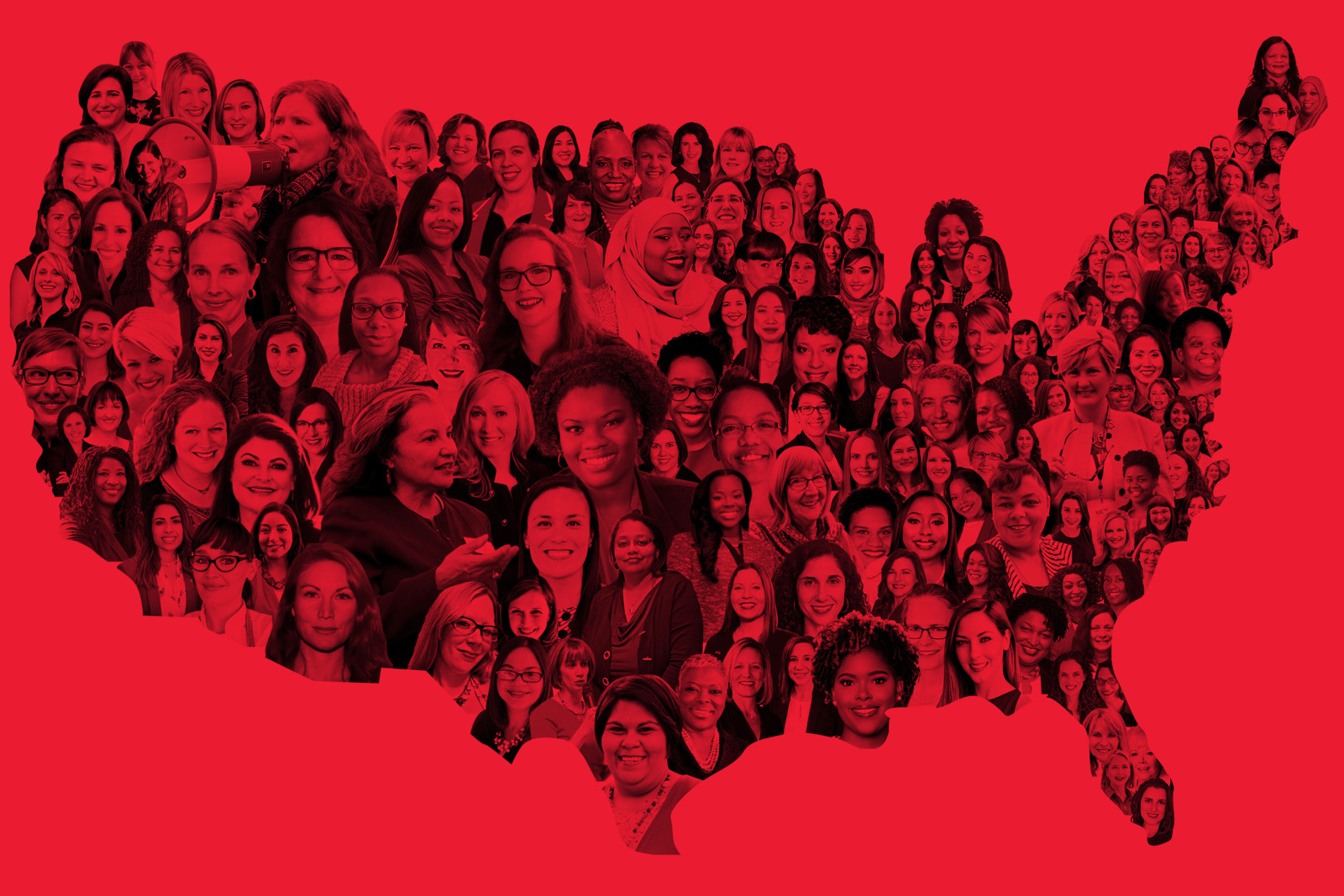 Women running for office across the country, borrowed from  The Cut.