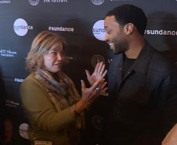 Pictured with Director-Screenwriter-Actor Chiwetel Ejiofor, winner of the Alfred P. Sloan Public Understanding of Science Feature Film Prize for The  Boy Who Harnessed the Wind.
