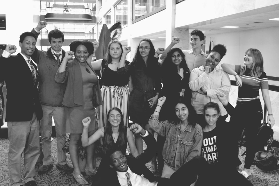 """Zero Hour leaders: Jamie started gathering her friends in the summer of 2017 to """"start organizing something big, something hard to ignore."""" Jamie is also one of 12 young people in Washington state  taking legal action  in the fight against climate change. (Courtesy of  Zero Hour )"""