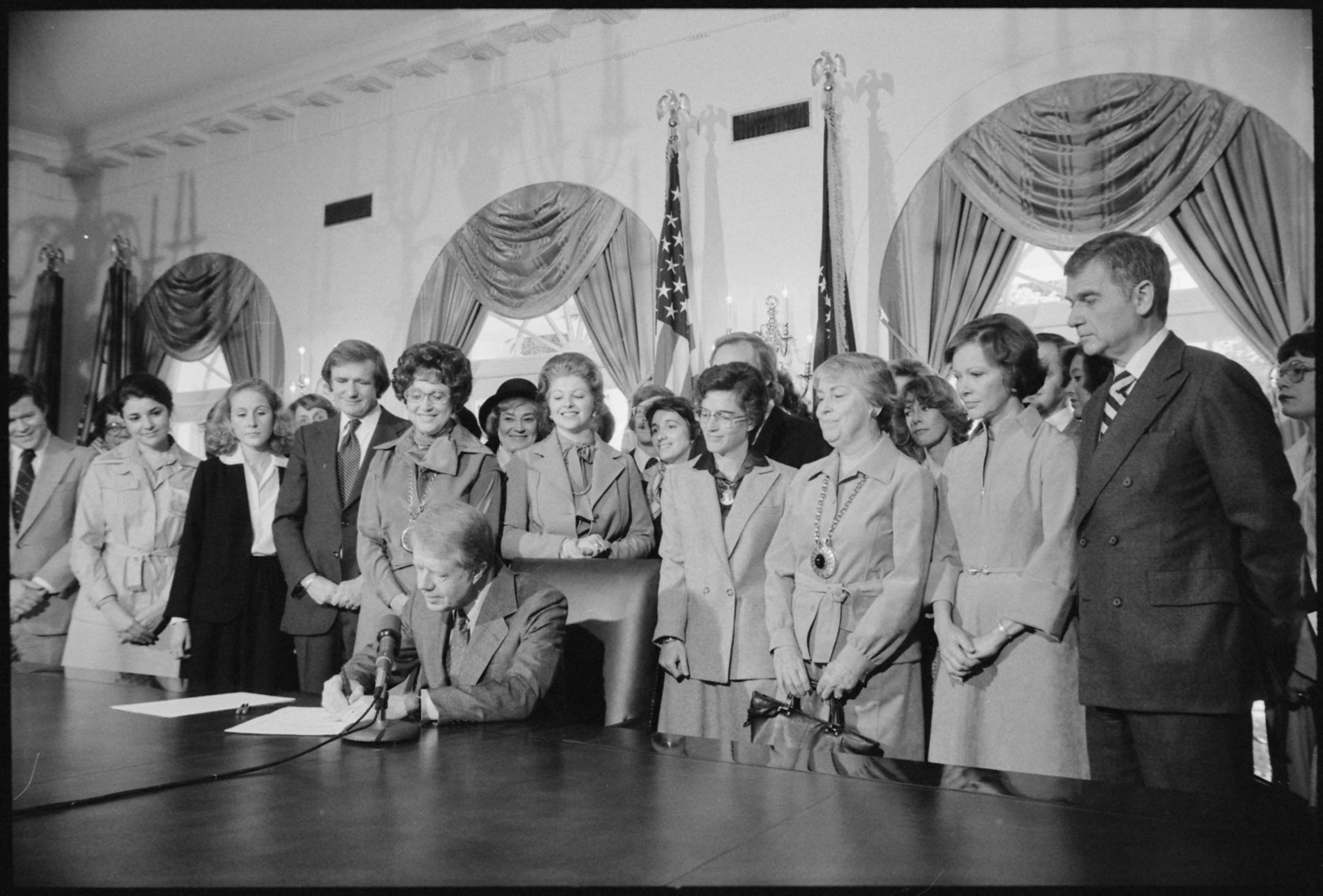 Pres. Jimmy Carter Signing Extension of Equal Rights Amendment (ERA) Ratification on October 20, 1978. Despite the 1982 deadline, many in Congress are working to extend it to allow for new ratifications from states.