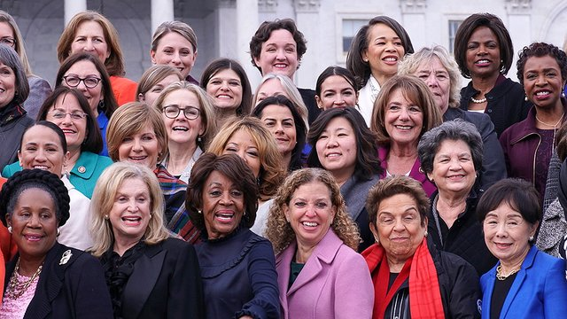 Some of the women of the House in 116th Congress (Credit: © Stefani Reynols)